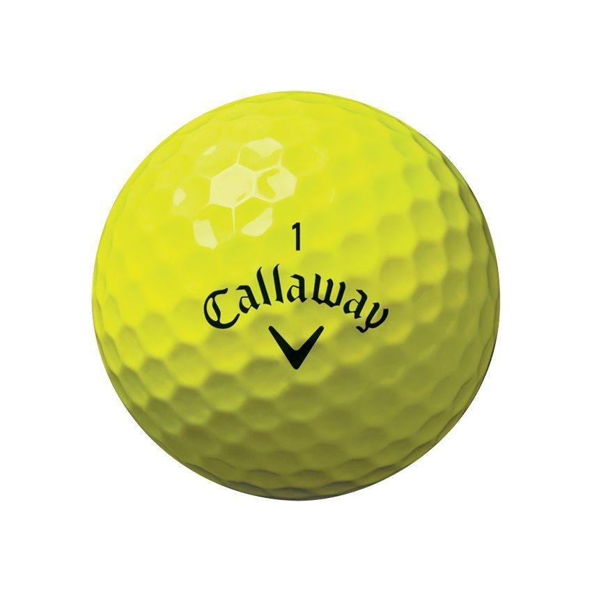Callaway ChromeSoft X Yellow Ball View